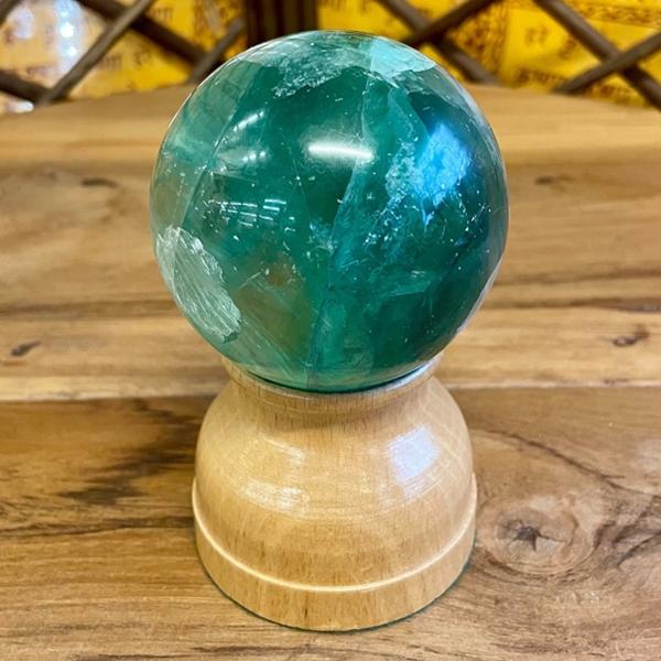 Green Fluorite Crystal Ball