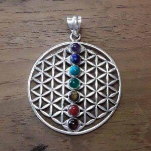 Sacred Geometry Chakra Pendant