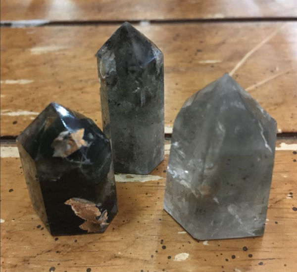 Lodolite 'Shamanic Dream' Quartz Points